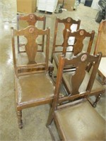 DINING ROOM TABLE & (6) ASSORTED CHAIRS