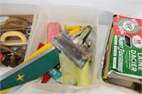 (3) Tubs of Drywall Tools, Autobody Tools,