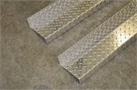 Pair of Aluminum Checker Plate Rails