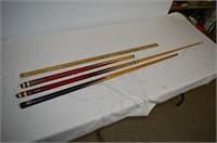 Pool Cues and Yard Stick
