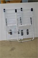 (2) Folding Drying Racks - damaged / incomplete