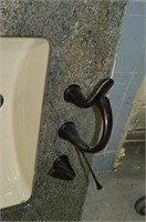 Granite Countertop with Lavatory Sink and Faucet