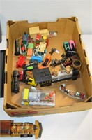 Box of Train Collectables, Card Set, Model Cars