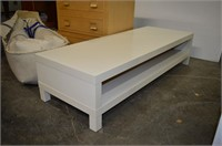 Grp, of File Chest (locked), White Coffee Table