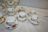 China Tea Cups & Saucers & Wash Pitcher