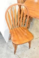"""Wood Table 42""""x63"""" with (4) Chairs"""