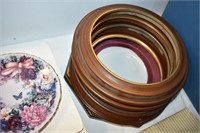 Tote of Collector Plates with Frames
