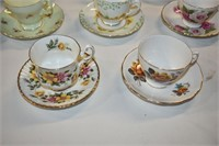 Group of Teacups & Saucers