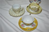 (7) Demitasse Cups & Saucers