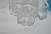 (8) Birks Pinwheel Crystal Napkin Rings