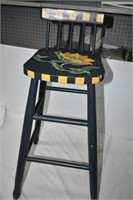 Wood Painted High Stool