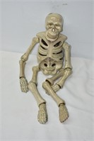 "Pottery Sitting Skeleton Tea Light 20"" Tall"