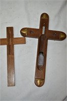 Wood Cross with Secret Compartment