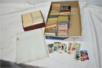 Tray of Baseball Cards & Cover Sheets
