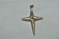 Silver Siam Brooch & Sterling Cross