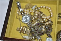 Musical Jewelry Box with Contents