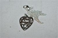 """Sterling Silver Necklace  """"Happy Anniversary"""""""