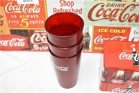 "Coca Cola Puzzle Sign 12""x24"", Tin & Cups"