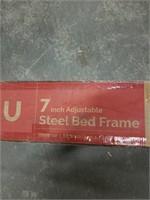 """7"""" ADJUSTABLE STEEL BED FRAME FULL-KING (NOT"""