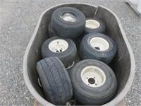 Pallet of Golf Cart Tires