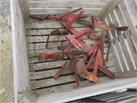 Bins of Cultivator Parts
