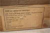 (1000) RNDS 7.62x39mm, Short Range, German make,