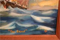 OIL ON BOARD DEPICTING AMERICAN CLIPPER SHIP