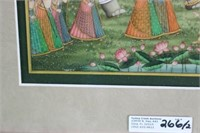 2 PAINTINGS ON PANEL TO INC. PERSIAN MAN WITH