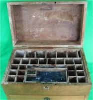 UNUSUAL 19TH C. MAHOGANY DOCTORS BOX WITH