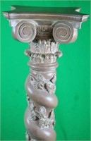 INDONESIAN CARVED WOODEN PEDESTAL WITH TWIST