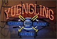 YUENGLING BEER NEON SIGN, WORKING CONDITION,