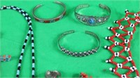 LOT OF 10 MISC. NICKEL SILVER & BEADWORK
