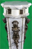 LATE 20TH C. BRONZE MOUNTED MARBLE PEDESTAL,