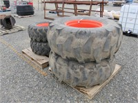(4) Tractor Tires & Rims