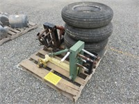 (4) Tires & Implement Brackets
