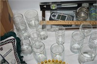 Group of Glasses, Lights, Yard Stick, etc.