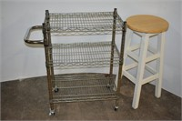 Bar Stool & Serving Cart