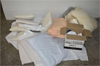 Group of Linens & Pillows