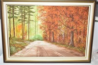 """Signed Painted Canvass in Frame 42""""x30"""""""