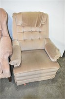 Cushioned Recliner & Chair (Needs Cleaning)