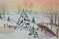 """Water Color by G.L. Leitch 1990 27""""x20"""""""