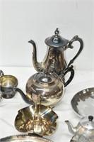 Brass & Copper Tea Pot, Coffee Pot, Trays,