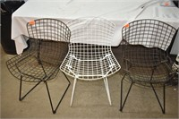 (3) Metal Outdoor Chairs
