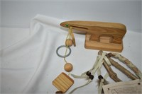 Group Wood Crafted Items
