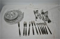 Group of Stainless Steel Silver-Plate