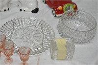 Small Goblets, Cookie Jar (No Lid) Crystal Items
