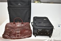 (2) Suitcases & Duffel Bag
