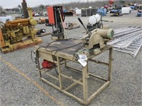 Work Bench with Cut Off Saw, Press & Parts Bin
