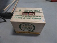 Case of 24 Quaker State oil cans full
