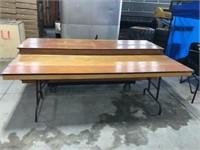 "8ft folding table - 30""W x 30""H"